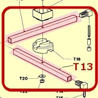 STAINLESS STEEL TUBE (25X25 LENGTH 425 MM)